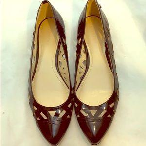 CALVIN KLEIN Emilia  Patent Leather Cut Out Flat